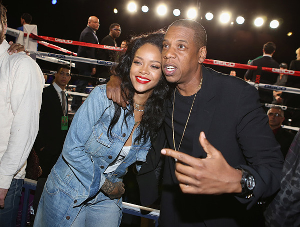 Fight Night Photos: Jay Z, Rihanna & Fabolous Attend Roc Nation Sports Throne Boxing [VIDEO]
