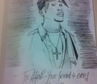 Photos: Eminem Sends Hand Written Letter Drawing To Tupac's Mother Afeni Shakur