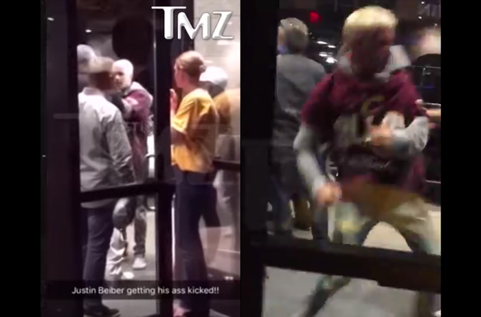 Justin Bieber's Fight After Cavs Game Caught on Camera [VIDEO]