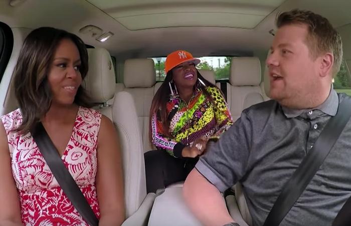 """Michelle Obama & Missy Elliott Sing in """"Carpool Karaoke"""" [VIDEO]"""