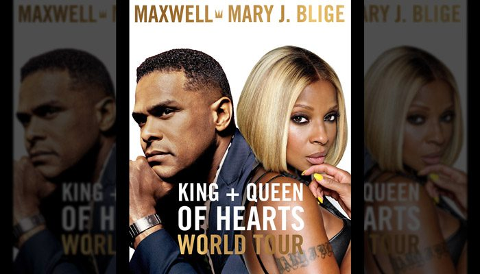 """Maxwell and Mary J. Blige Announce """"The King and Queen of Hearts World Tour"""""""