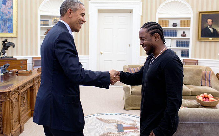Kendrick Lamar Says Farewell to President Obama