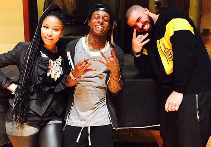 Photos: Lil Wayne, Nicki Minaj & Drake Reunite