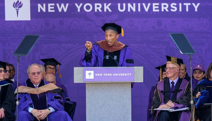 Pharrell Gives Commencement Speech at NYU [VIDEO]