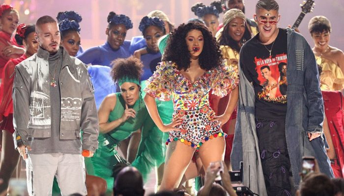 "Cardi B, Bad Bunny & J Balvin Perform ""I Like It"" at the American Music Awards [VIDEO]"