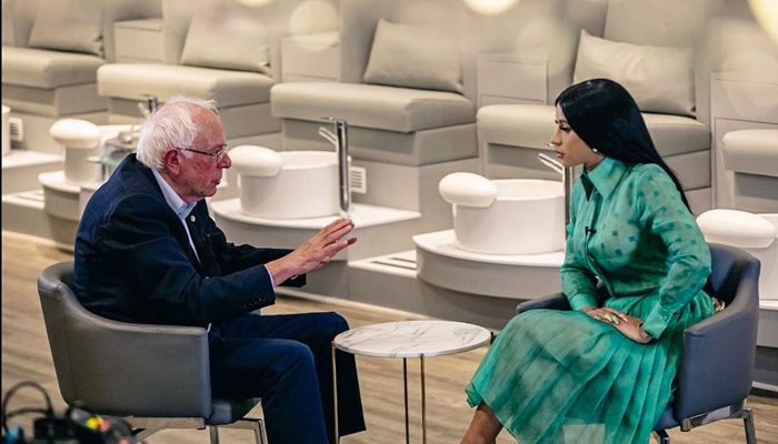 Cardi B Interviews Senator Bernie Sanders [VIDEO]